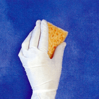 Lapislazuli - Lasur mit Goldflitter, in mehreren Schichten
