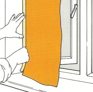 Ränder von Farbflächen abkleben und angrenzenden Flächen