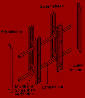Bauplan Blumengestell mit Stil