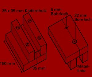 Bauplan Leiterregal, das Regal ist einfach herzustellen