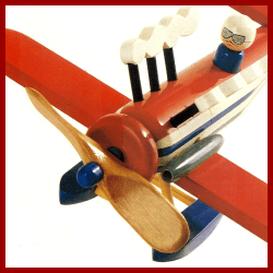 Bauplan Modellflugzeug, mit einfachen, aber wirkungsvollen Stilelementen