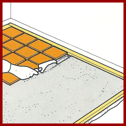 Bodenfliesen im Dickbettverfahren