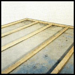 Dämmung von Betondecken zwischen Lagerhölzern