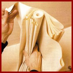 Sehr Decken tapezieren, Zimmerdecken einen lebendigen Untergrund geben DT07