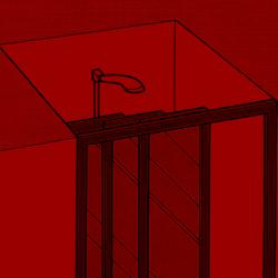 Duschkabine in einer Nische
