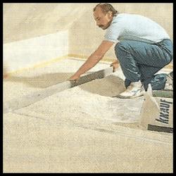 Fußboden Dämmung mit Dämmstoffkörnung, Dämmstoffschüttung