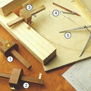 Holz messen und anreißen mit unterschiedlichen Meßwerkzeugen