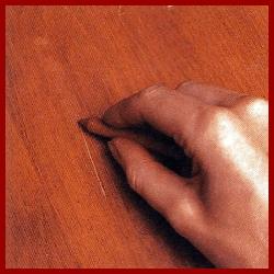 Möbel Furniere ausbessern