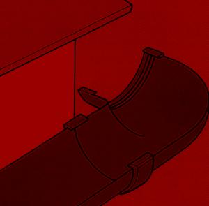 Montage einer Dachrinne aus Kunststoff