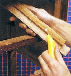 Schubladen richten, wenn es klemmt, muss der Hobel angesetzt werden