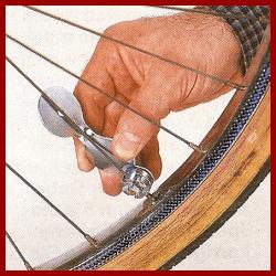 Speichen am Fahrrad korrigieren