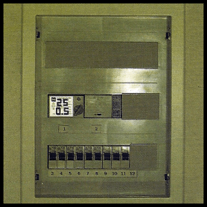 Stromkreisverteiler oder Sicherungskasten