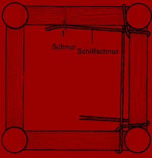 Stuhlsitz neu flechten, mit Schilf schnur oder Binsen