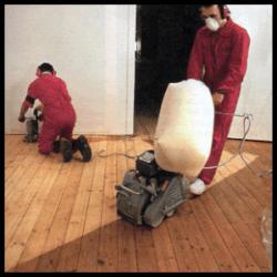 Alte Dielen Schleifen, Vorbehandlung und Schliff