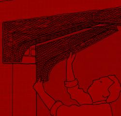 4. Bei Laibungsdicken ab 30 Zentimeter muss jede Ecke aus zwei Segmenten gesetzt werden. Beide sollten auf gleicher Höhe sitzen.