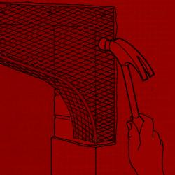 2. Befestigen Sie den Bogen mit verzinkten Hakenstiften in den Mörtelfugen. Bei bröseligem Mörtel nehmen Sie Blitzzement zu Hilfe.