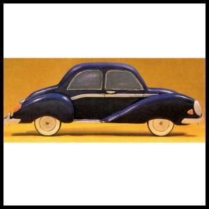 Bauplan Automobil als Wandschmuck, Holzmodell