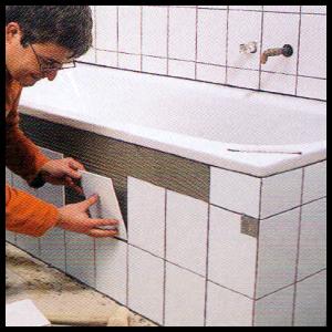 badewanne einbauen und duschwanne einbauen. Black Bedroom Furniture Sets. Home Design Ideas