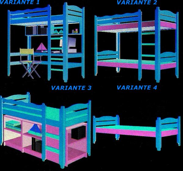 Bauplan Bett, Baukastensystem für ein Bett