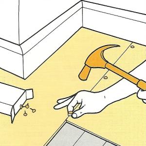 Bodenbeläge aus PVC-Bahnen verlegen