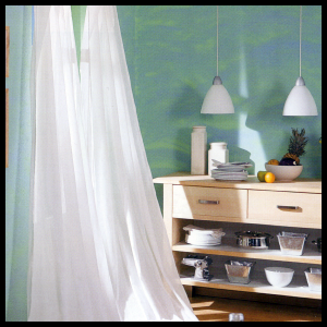 Dekoreffekte bei der Gestaltung der Wände, attraktive Effekten ...
