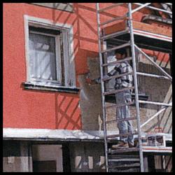 Fassadenanstrich, Fassadenfarben haften fast überall