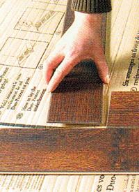 Holzboden in Fischgrät Verlegung, Fischgrätmuster