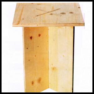Bauplan zerlegbarer Hocker, Platzsparend