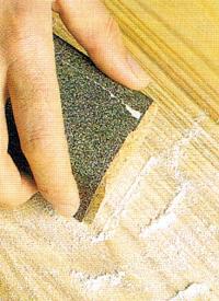 Holz Schleifen und Streichen, Nassschleifen bringt Vorteile