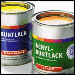 Der geeignete Lack, Alkydharz, Kunstharzlack oder Acryllack