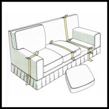 Anfertigung von Polsterbezügen, Sessel oder Sofa