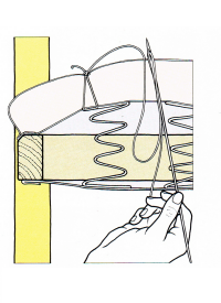 Der verdeckte Polsterstich, eine spezielle Polsterstichart