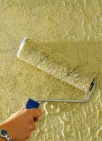 Wand mit Putzoptik versehen, Putz strukturieren