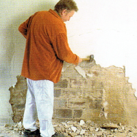 Sanierung von Putzschäden, Reparaturarbeiten