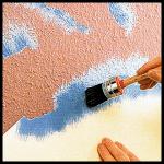 Wandgestaltung mit der Schablonentechnik
