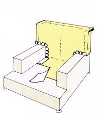 Bezüge für Sessel bestehen aus mindestens zehn Einzelteilen