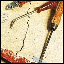 Gebrochene Sitzfläche reparieren, Schäden beheben