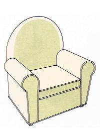 Sitzkissen beziehen, bei Sesseln und Sofas