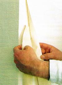 Textiltapeten richtig Tapezieren, mit Spezialkleister