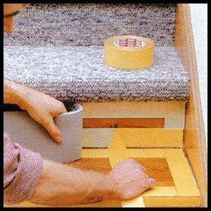 Teppich für treppen  Treppenstufen mit Teppichboden belegen, Anleitung