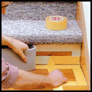 Top Treppenstufen mit Teppichboden belegen, Anleitung OT68