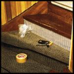 Treppenstufen neu belegen, mit Teppichbelag
