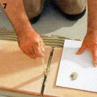 Verlegen von Cottofliesen, Fugenbreite mindestens 12 mm