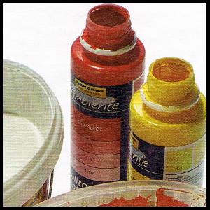 Den richtigen Farbton treffen, bei Wandfarben